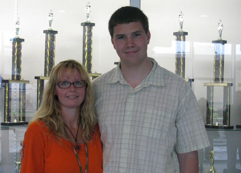 Alex with his mom